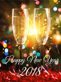 Happy New Year 2018 Champaigne